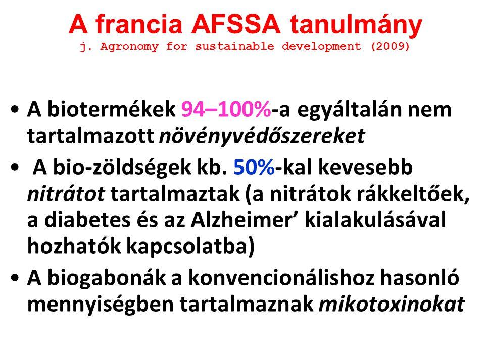 A francia AFSSA tanulmány j