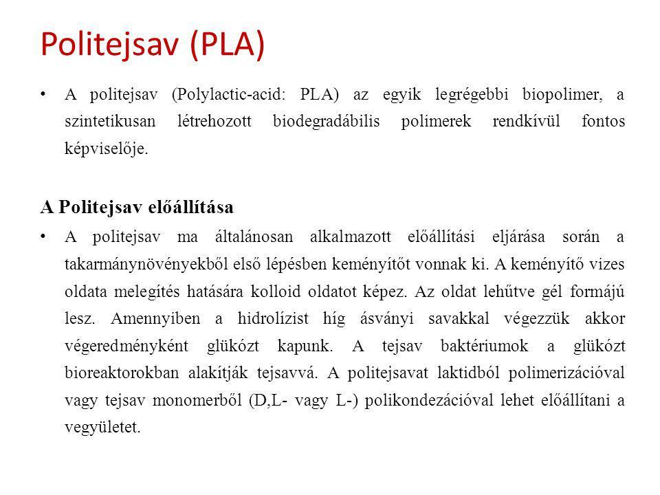 Politejsav (PLA) A Politejsav előállítása