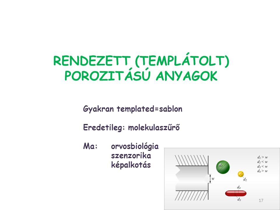 Rendezett (TEMPLÁTOLT) porozitású anyagok