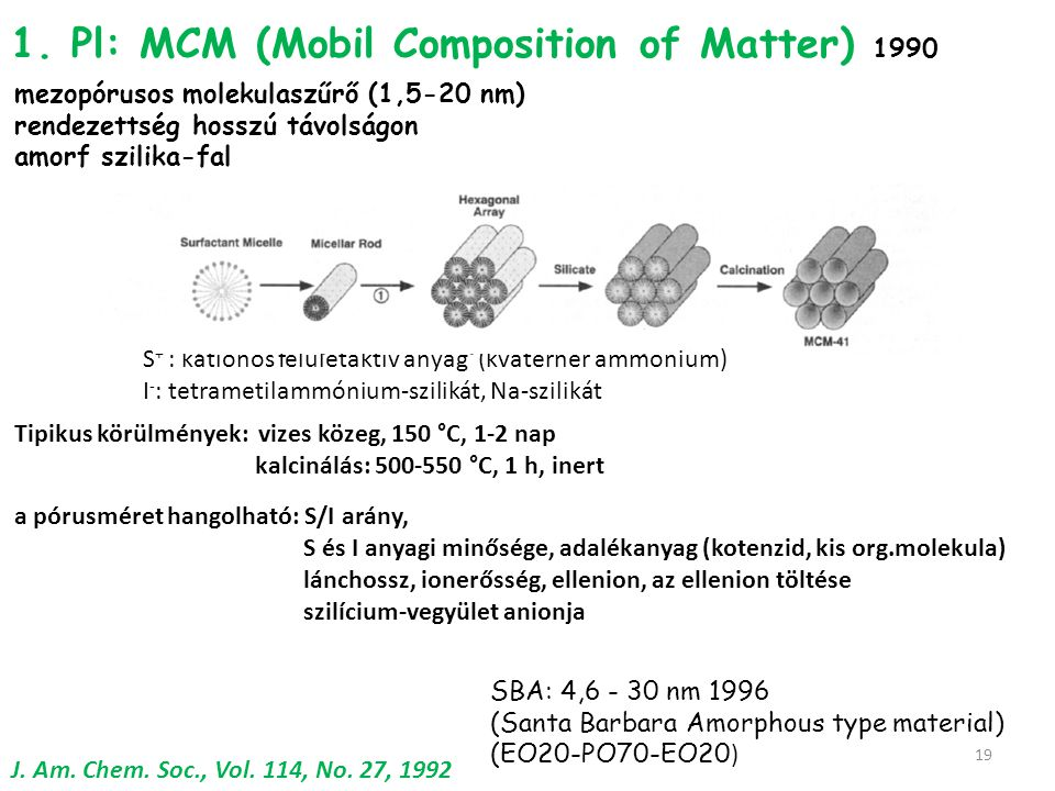 1. Pl: MCM (Mobil Composition of Matter) 1990