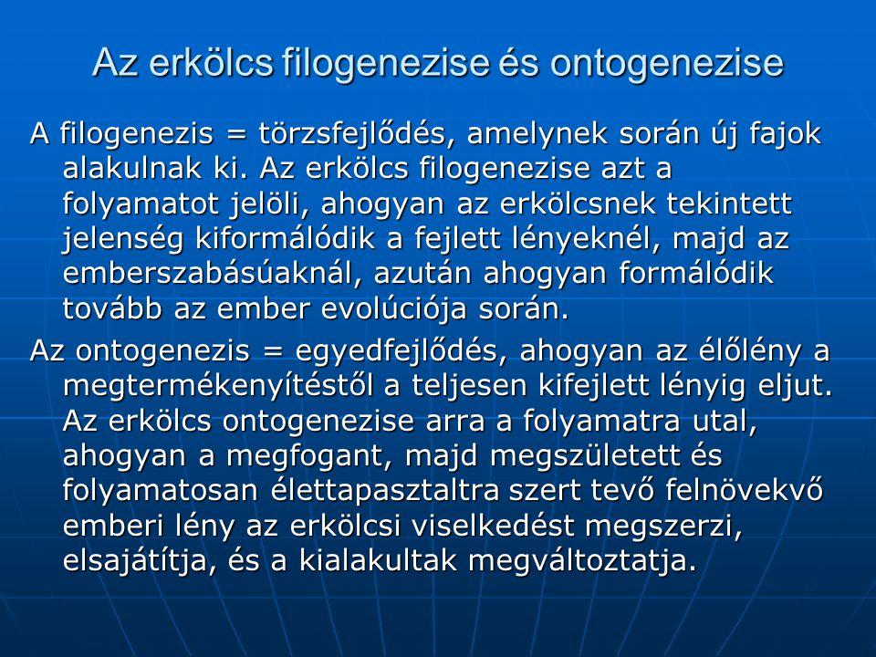 Az erkölcs filogenezise és ontogenezise