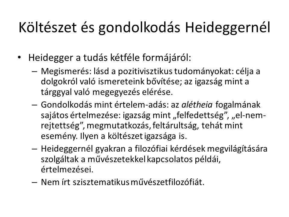 Költészet és gondolkodás Heideggernél