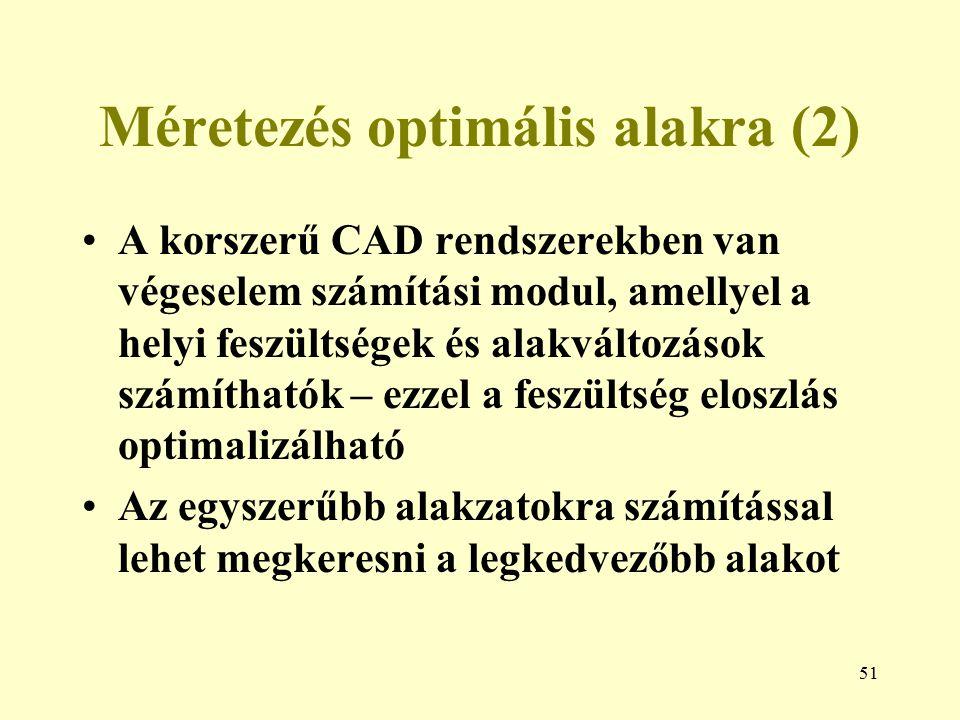 Méretezés optimális alakra (2)