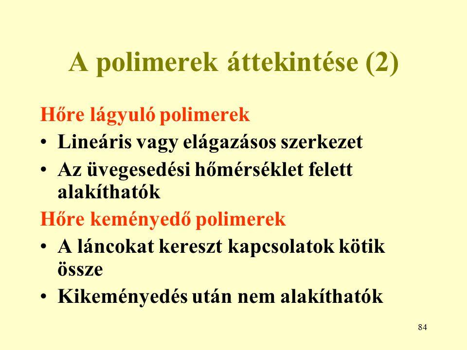 A polimerek áttekintése (2)