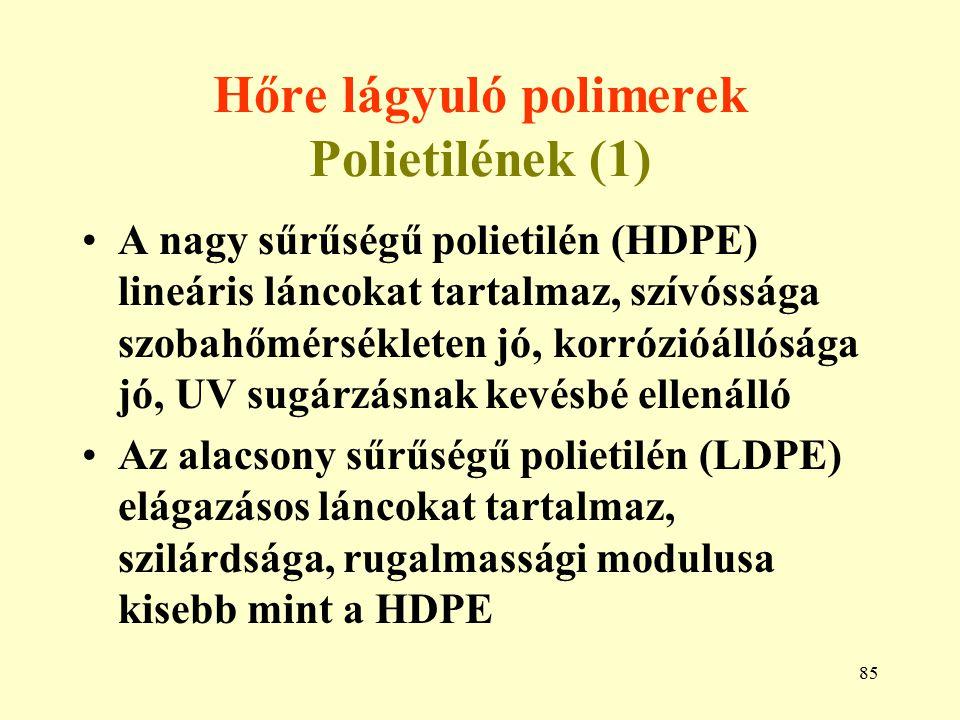 Hőre lágyuló polimerek Polietilének (1)