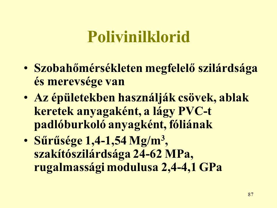 Polivinilklorid Szobahőmérsékleten megfelelő szilárdsága és merevsége van.