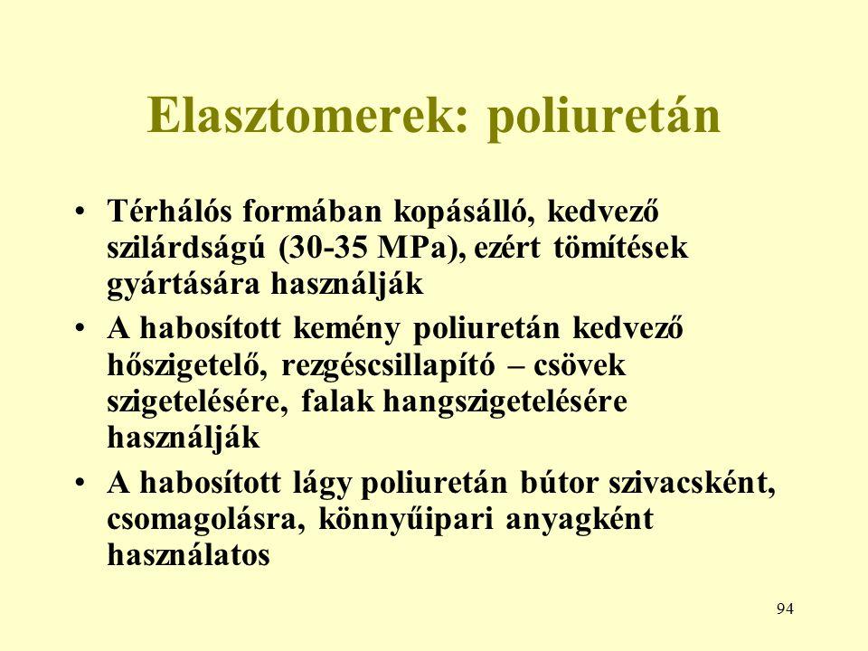 Elasztomerek: poliuretán