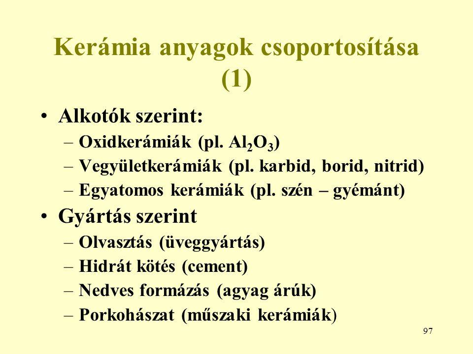 Kerámia anyagok csoportosítása (1)