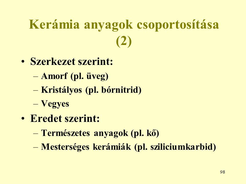 Kerámia anyagok csoportosítása (2)