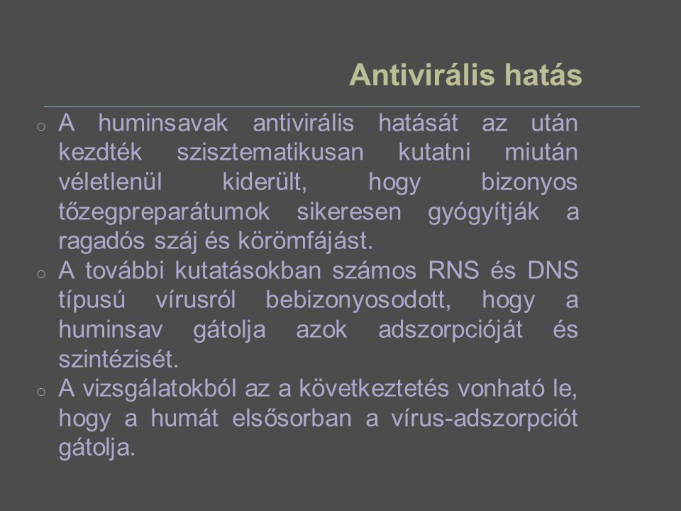 Antivirális hatás