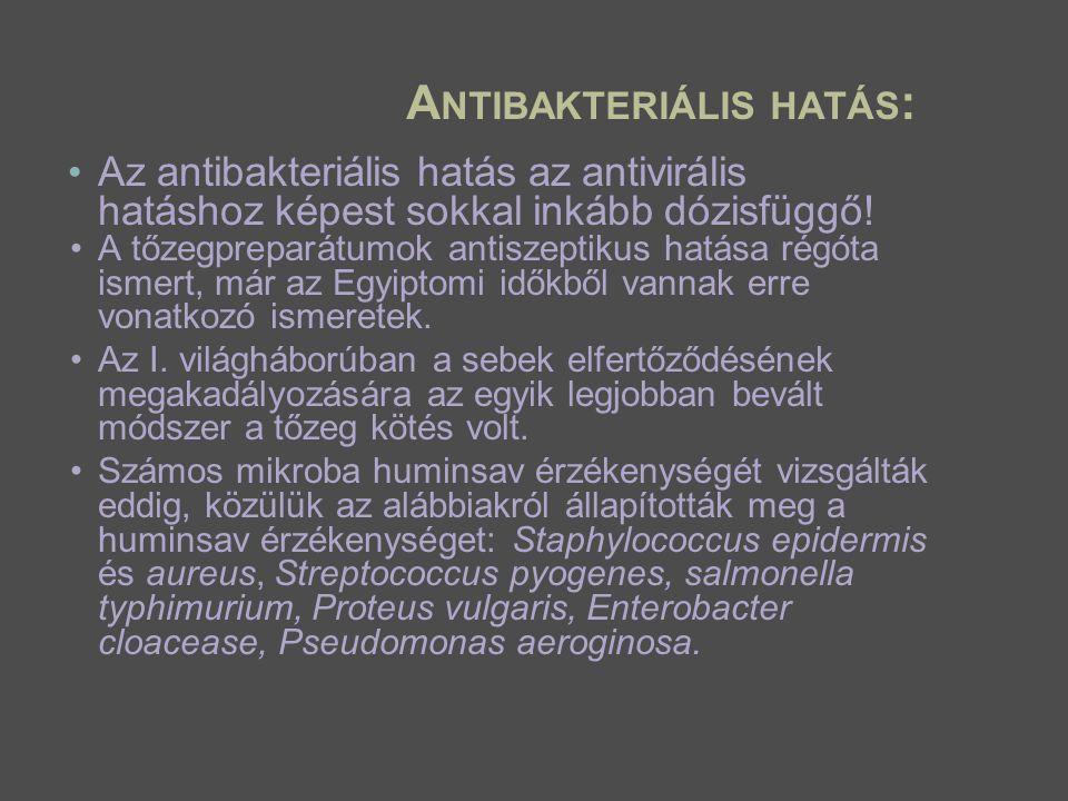 Antibakteriális hatás: