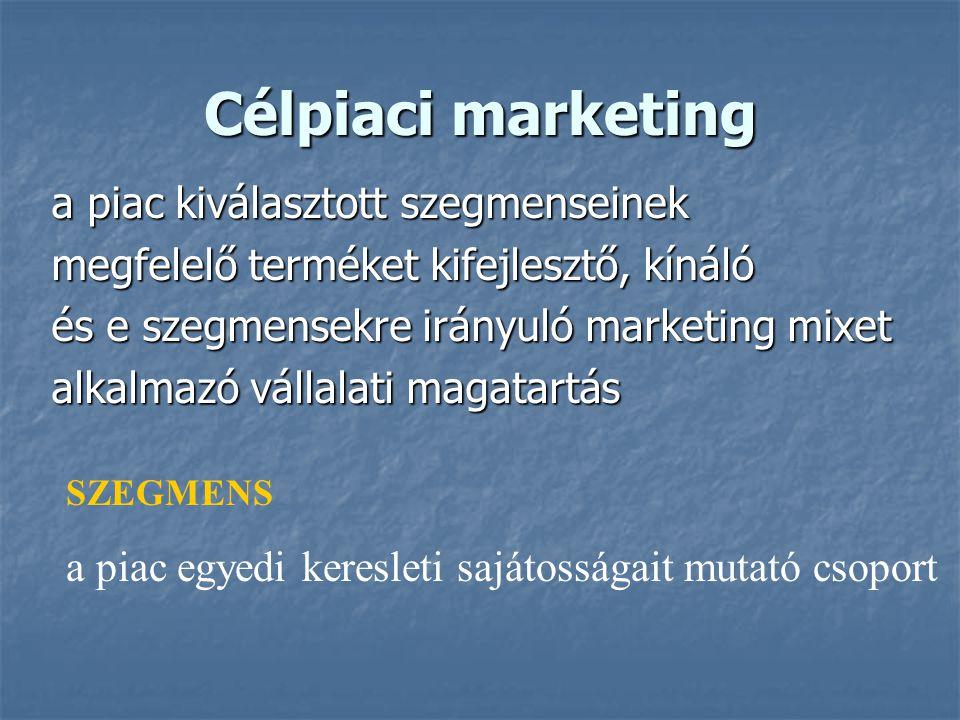 Célpiaci marketing a piac kiválasztott szegmenseinek