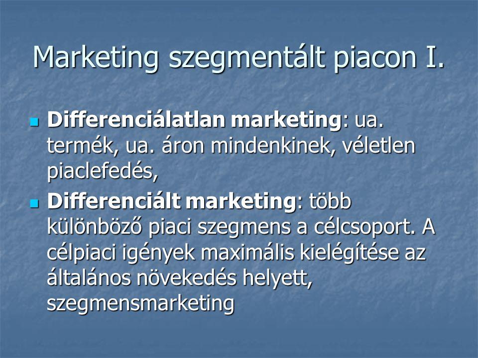 Marketing szegmentált piacon I.