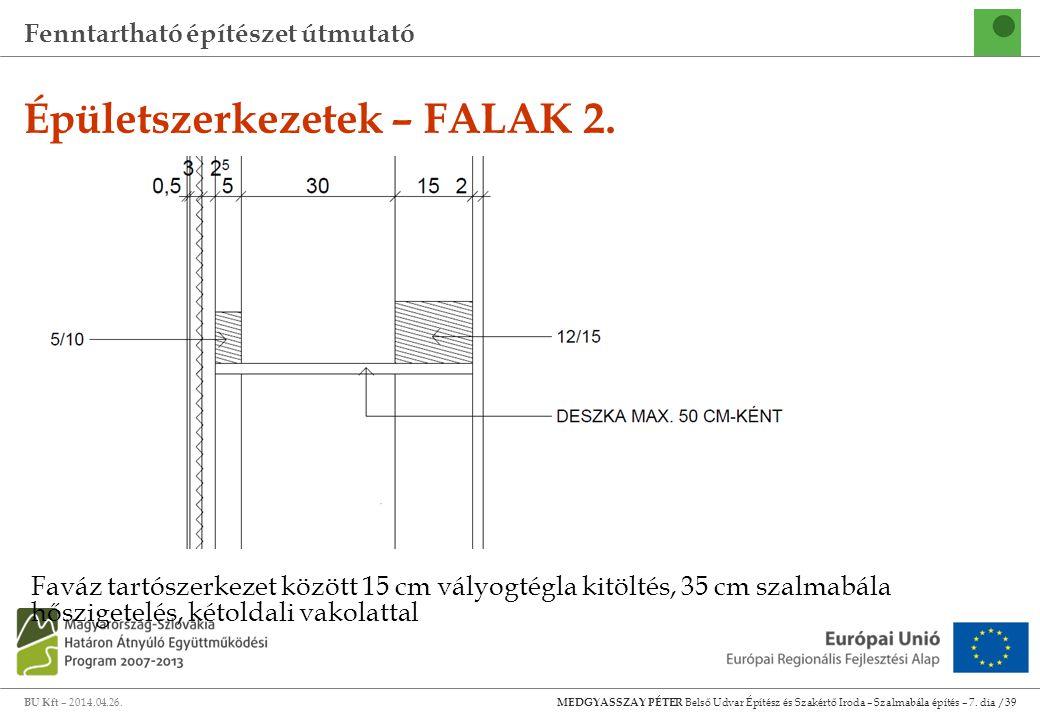 Épületszerkezetek – FALAK 2.