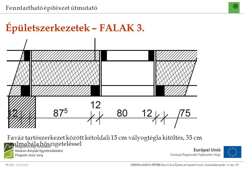 Épületszerkezetek – FALAK 3.