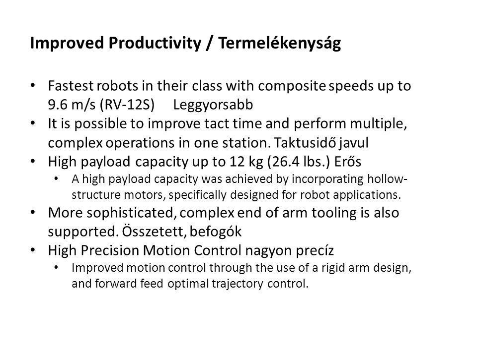 Improved Productivity / Termelékenyság