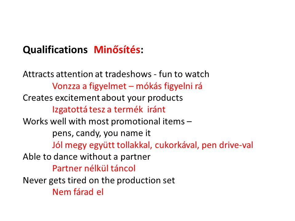 Qualifications Minősítés:
