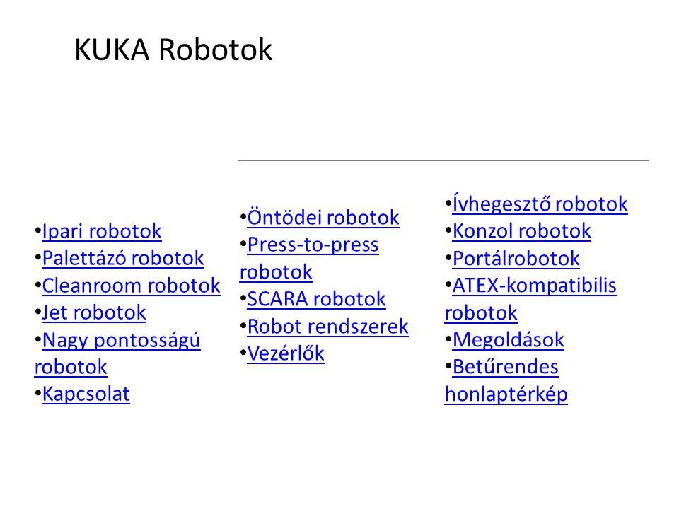 KUKA Robotok Ipari robotok Palettázó robotok Cleanroom robotok