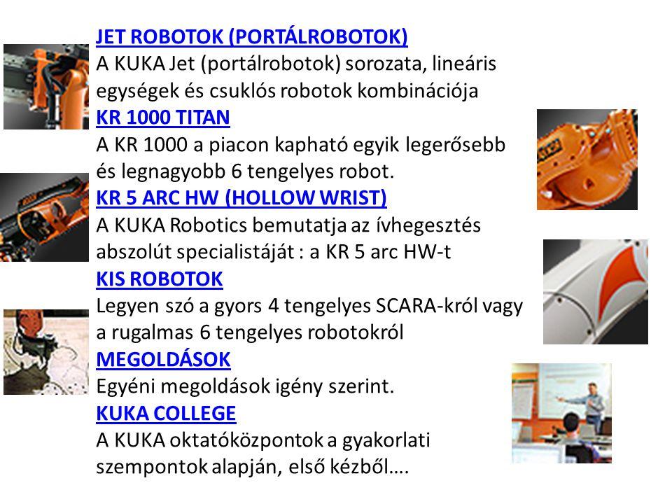 JET ROBOTOK (PORTÁLROBOTOK)