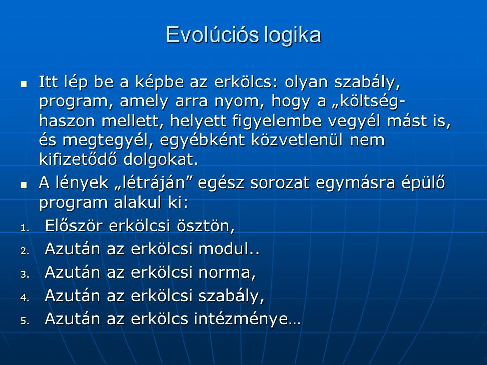 Evolúciós logika