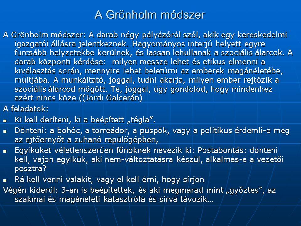 A Grönholm módszer