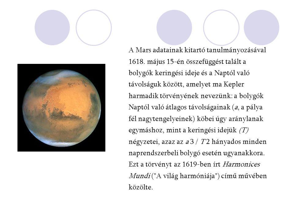 A Mars adatainak kitartó tanulmányozásával 1618