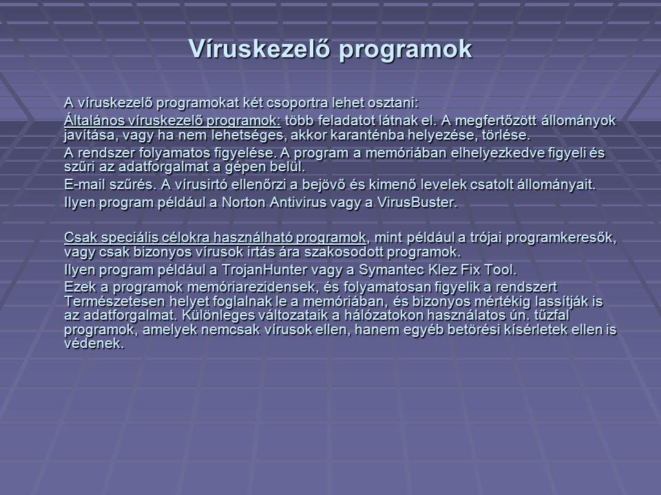 Víruskezelő programok