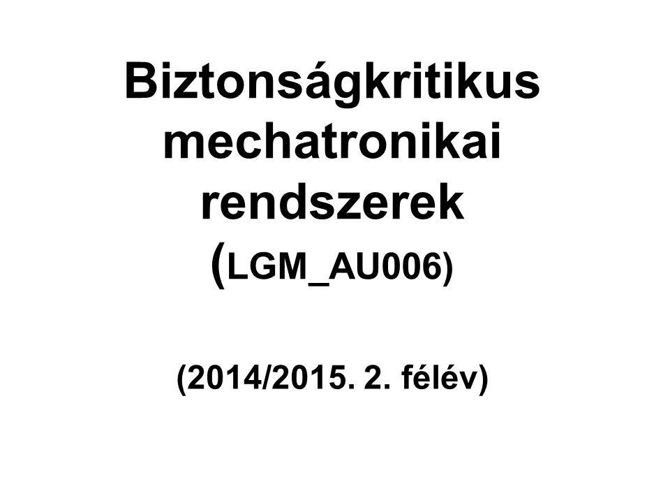 Biztonságkritikus mechatronikai rendszerek (LGM_AU006)