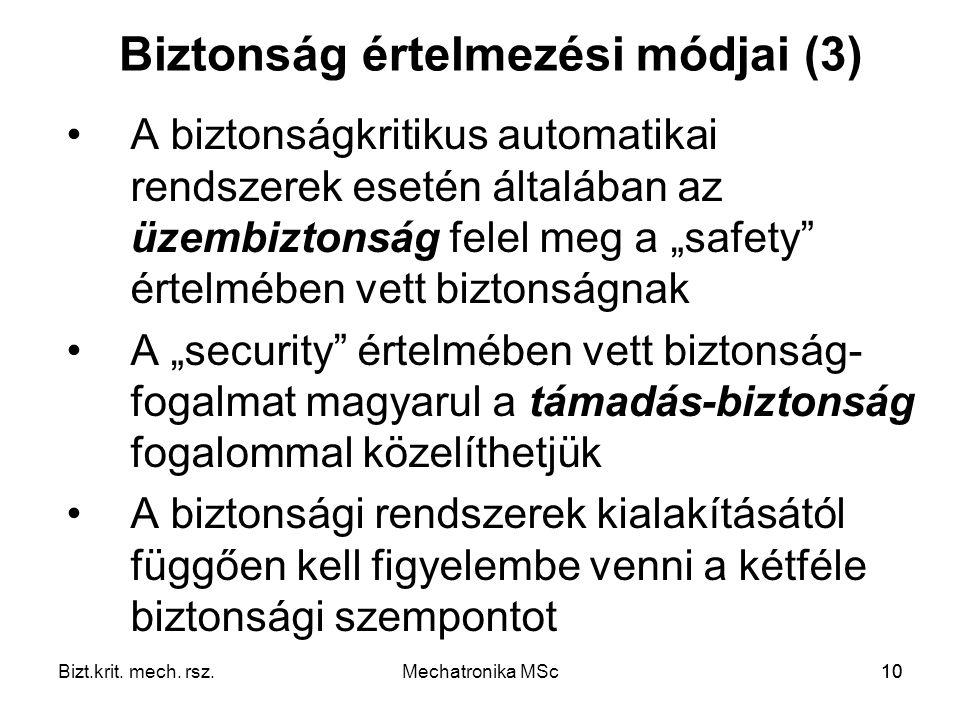 Biztonság értelmezési módjai (3)