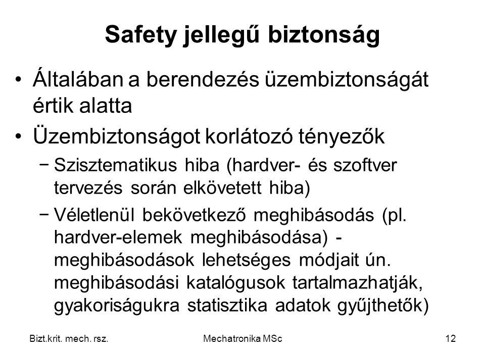 Safety jellegű biztonság