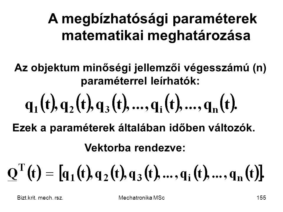 A megbízhatósági paraméterek matematikai meghatározása