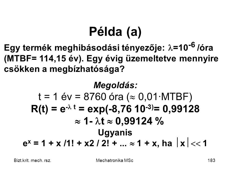 Ugyanis ex = 1 + x /1! + x2 / 2! + ...  1 + x, ha x 1
