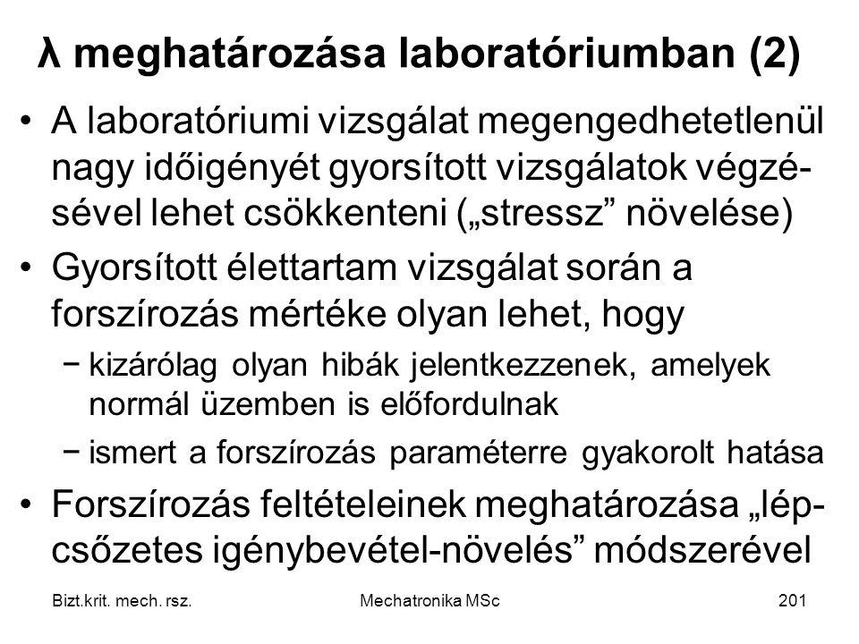 λ meghatározása laboratóriumban (2)