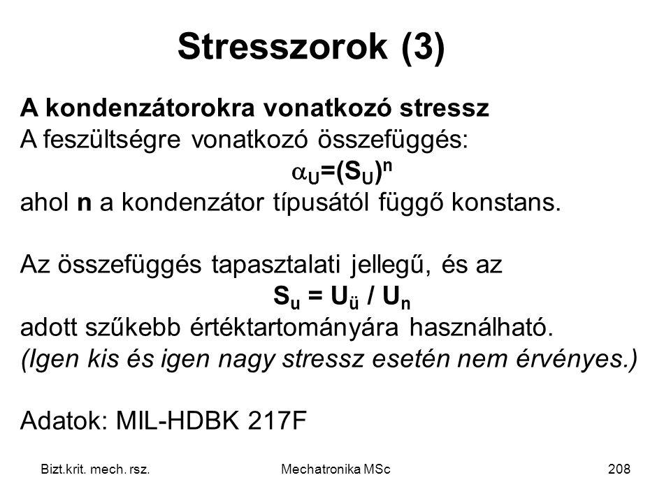 Stresszorok (3) A kondenzátorokra vonatkozó stressz