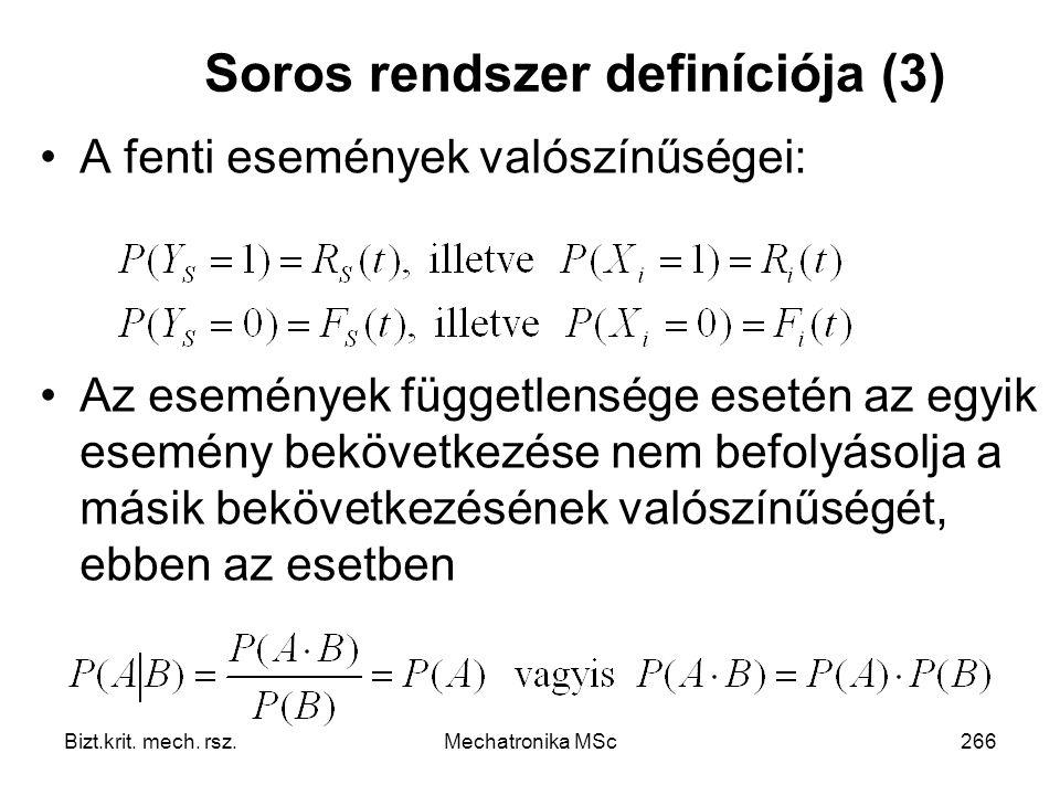 Soros rendszer definíciója (3)