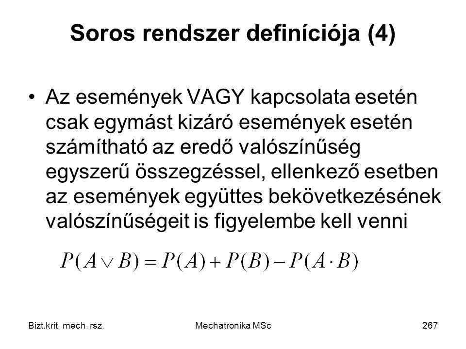 Soros rendszer definíciója (4)