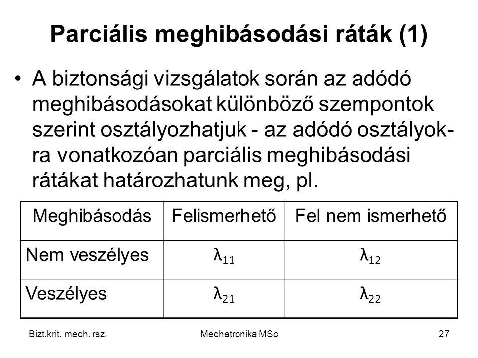 Parciális meghibásodási ráták (1)