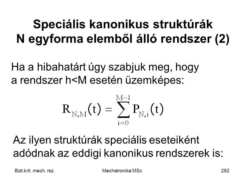 Speciális kanonikus struktúrák N egyforma elemből álló rendszer (2)