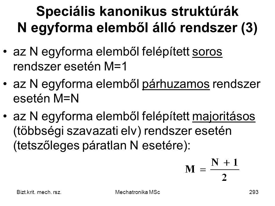 Speciális kanonikus struktúrák N egyforma elemből álló rendszer (3)