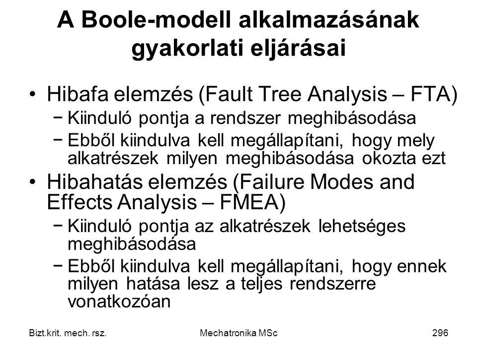 A Boole-modell alkalmazásának gyakorlati eljárásai