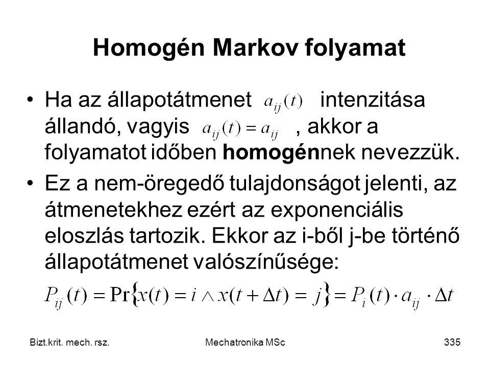 Homogén Markov folyamat