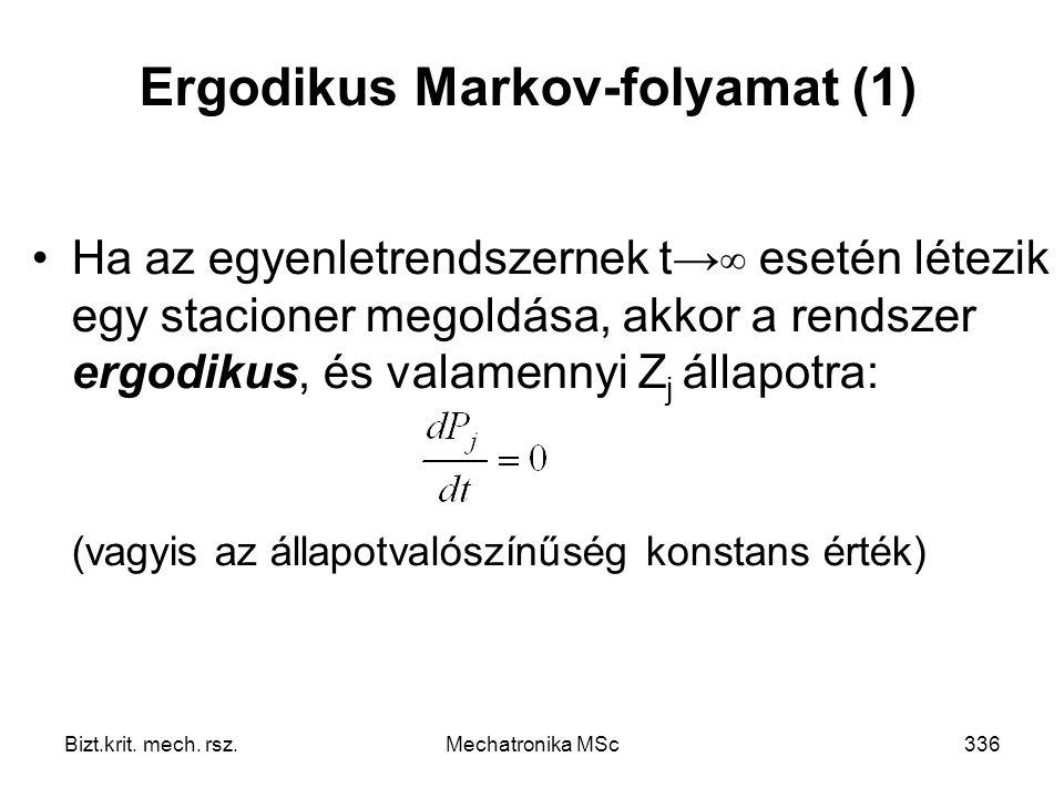 Ergodikus Markov-folyamat (1)