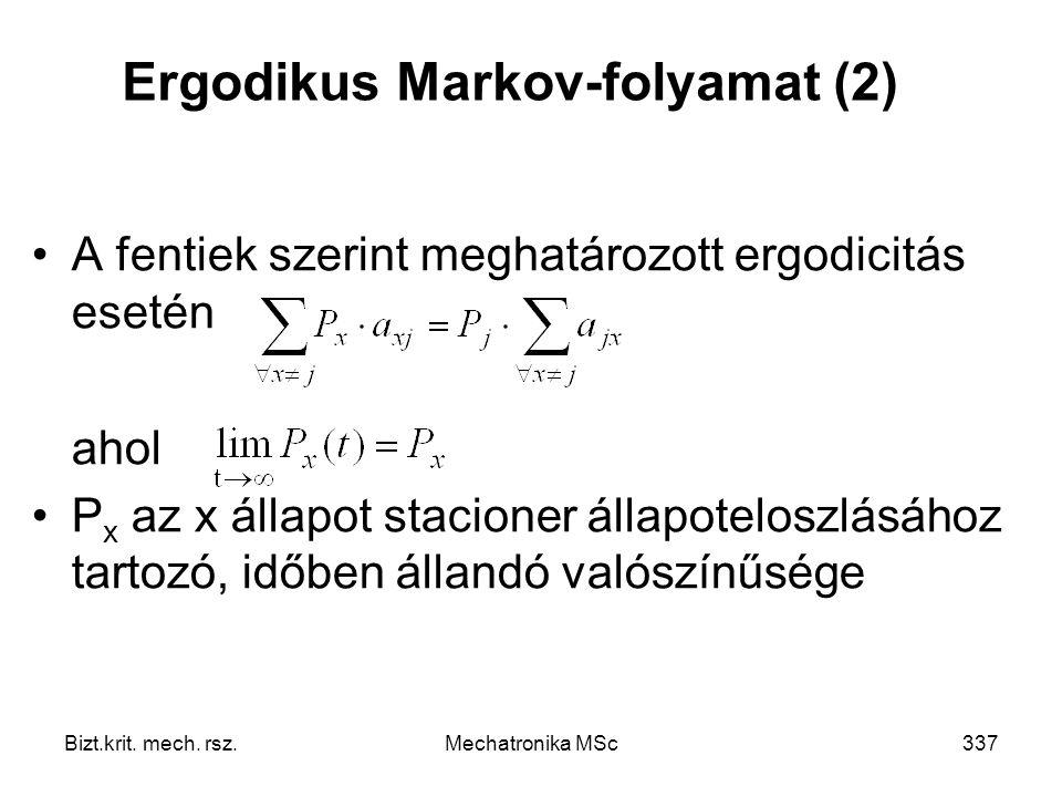 Ergodikus Markov-folyamat (2)