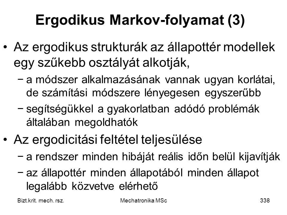 Ergodikus Markov-folyamat (3)