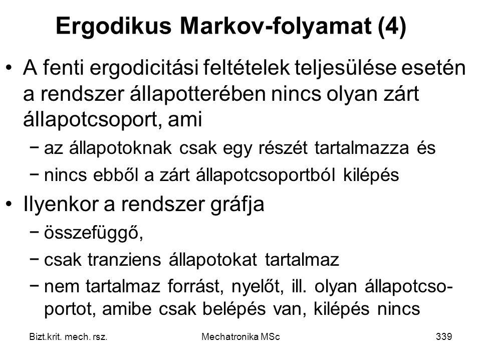 Ergodikus Markov-folyamat (4)