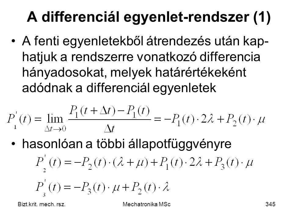 A differenciál egyenlet-rendszer (1)