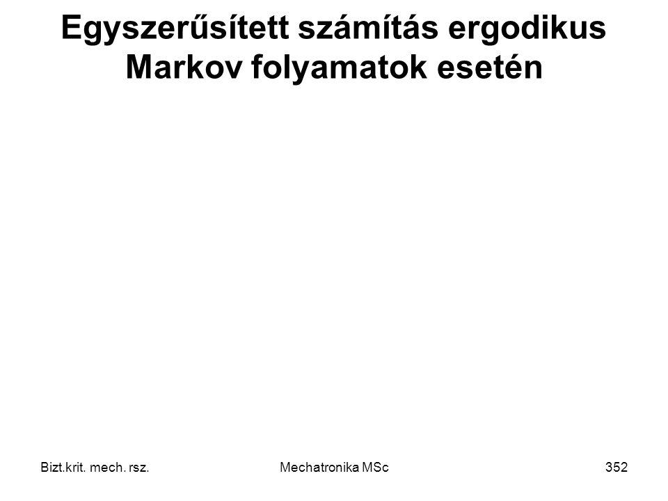 Egyszerűsített számítás ergodikus Markov folyamatok esetén