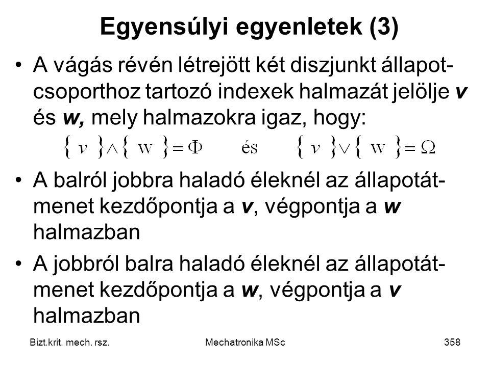 Egyensúlyi egyenletek (3)