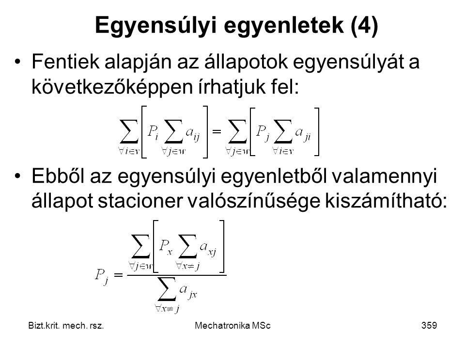 Egyensúlyi egyenletek (4)