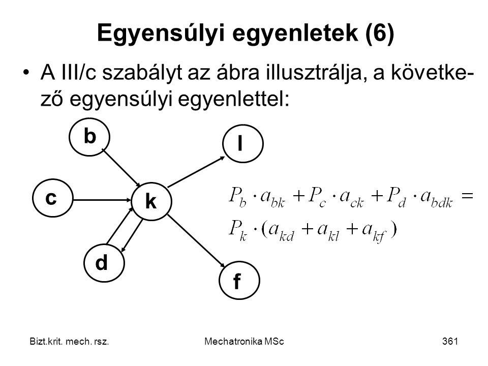 Egyensúlyi egyenletek (6)
